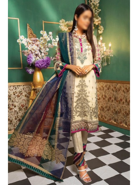 Gladious Unstitched Embroidered Chiffon Collection D-03