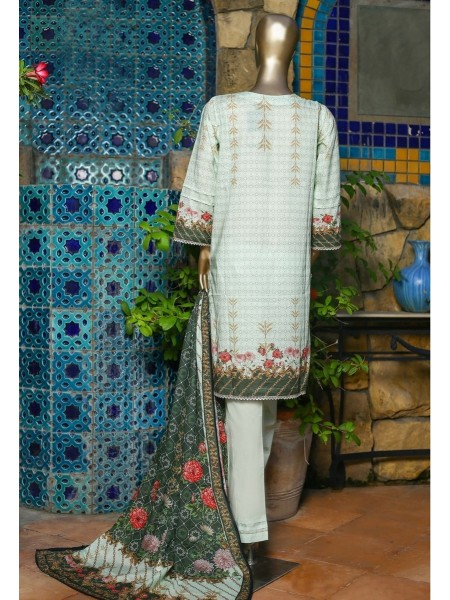 SUNTEX Oswah Stitched Digital Print and Embroidered Lawn Collection D-OS-2145K