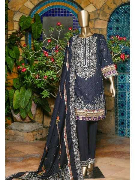 SUNTEX Oswah Stitched Digital Print and Embroidered Lawn Collection D-OS-2146K