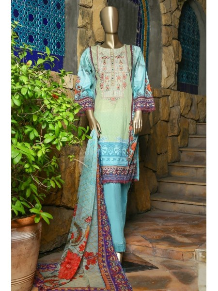 SUNTEX Oswah Stitched Digital Print and Embroidered Lawn Collection D-OS-2147K