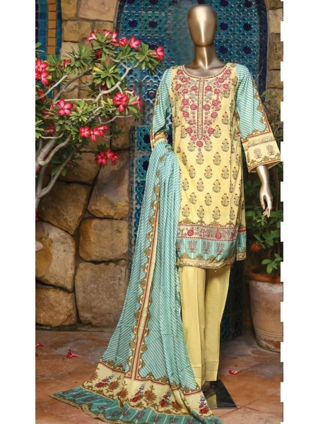 SUNTEX Oswah Stitched Digital Print and Embroidered Lawn Collection D-OS-2148K