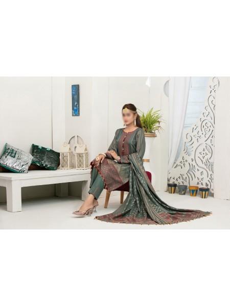 AMNA KHADIJA INAAYAT 2 shade Cambric Jacquard21 D-06