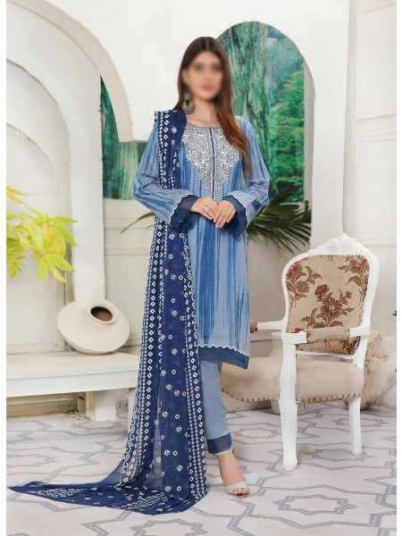 Amna Khadija Shades Tie & Dye Embroidered Collection Vol 3 D-01