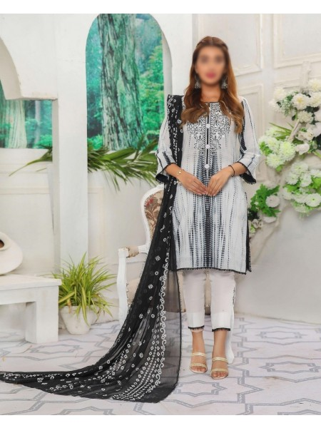 Amna Khadija Shades Tie & Dye Embroidered Collection Vol 3 D-02