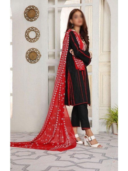 Amna Khadija Shades Tie & Dye Embroidered Collection Vol 3 D-03