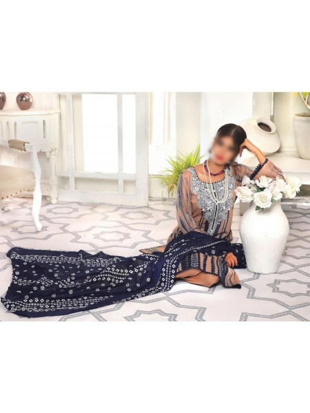 Amna Khadija Shades Tie & Dye Embroidered Collection Vol 3 D-05