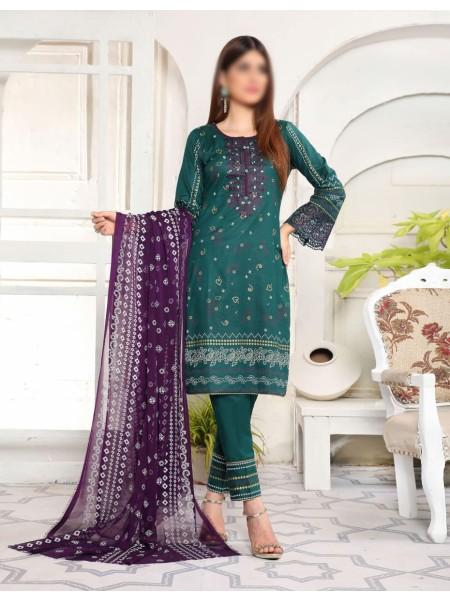 Amna Khadija Yildz Chundri Embroidery Collection D-01
