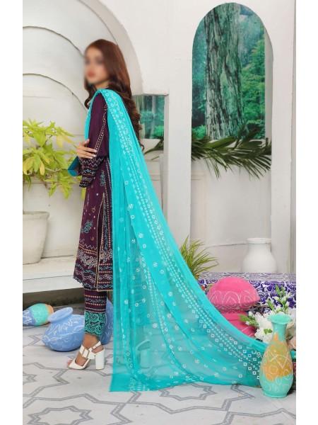 Amna Khadija Yildz Chundri Embroidery Collection D-03