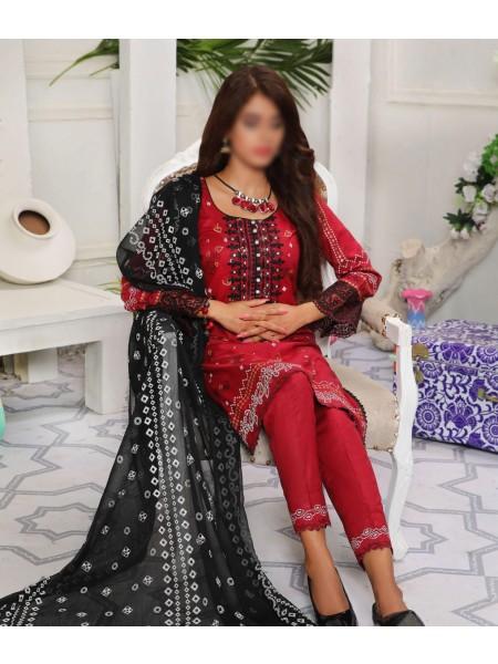 Amna Khadija Yildz Chundri Embroidery Collection D-04