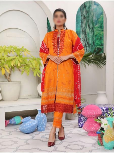 Amna Khadija Yildz Chundri Embroidery Collection D-05