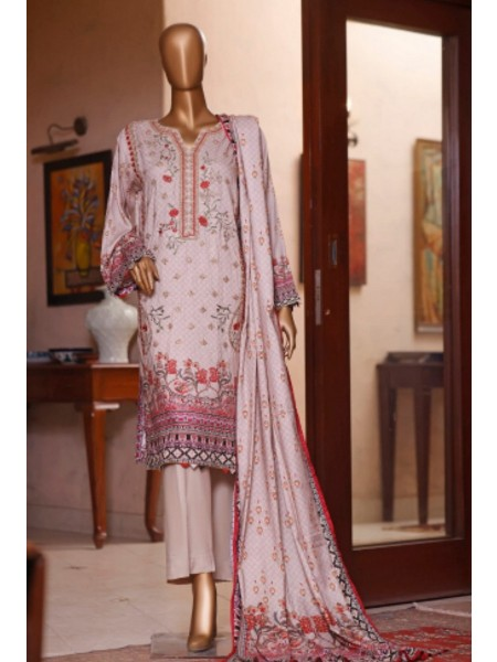 Bin Saeed Printed and Embroidered Linen Collection D-19904