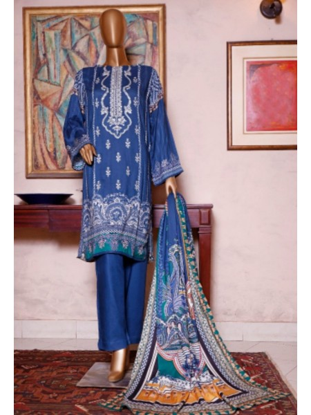Bin Saeed Printed and Embroidered Linen Collection D-19905
