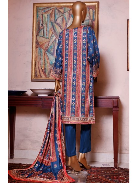 Bin Saeed Printed and Embroidered Linen Collection D-19907