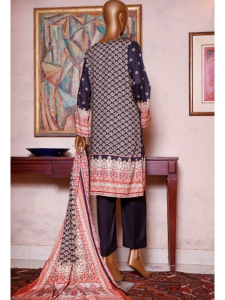Bin Saeed Printed and Embroidered Linen Collection D-19908