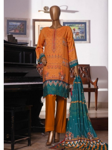 Bin Saeed Printed and Embroidered Linen Collection D-19910