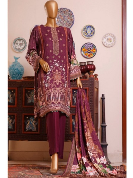 Bin Saeed Printed and Embroidered Linen Collection D-19913