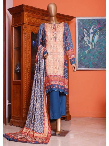 Bin Saeed Printed and Embroidered Linen Collection D-19952