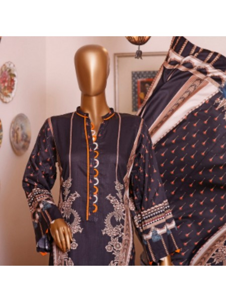 Bin Saeed Printed and Embroidered Linen Collection D-19953