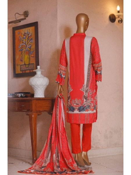 Bin Saeed Printed and Embroidered Linen Collection D-19954