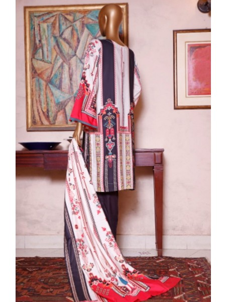 Bin Saeed Printed and Embroidered Linen Collection D-19956