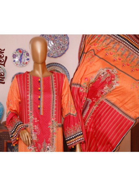 Bin Saeed Printed and Embroidered Linen Collection D-19999
