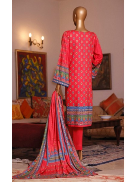 Bin Saeed Printed and Embroidered Linen Collection D-20414