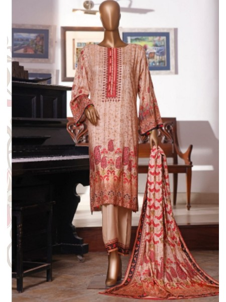 Bin Saeed Printed and Embroidered Linen Collection D-20420