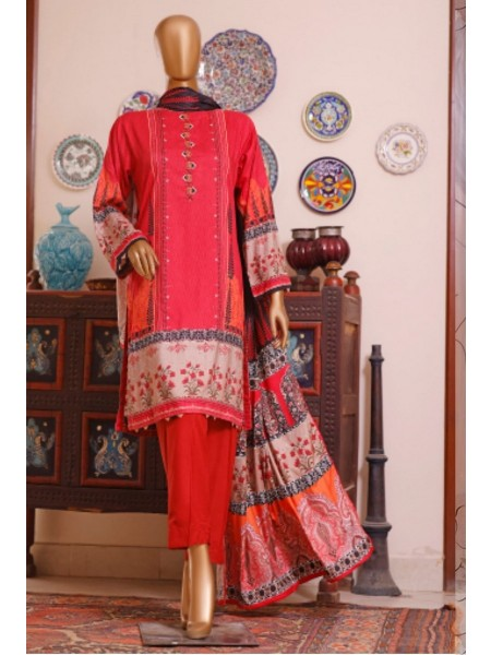 Bin Saeed Printed and Embroidered Linen Collection D-20423