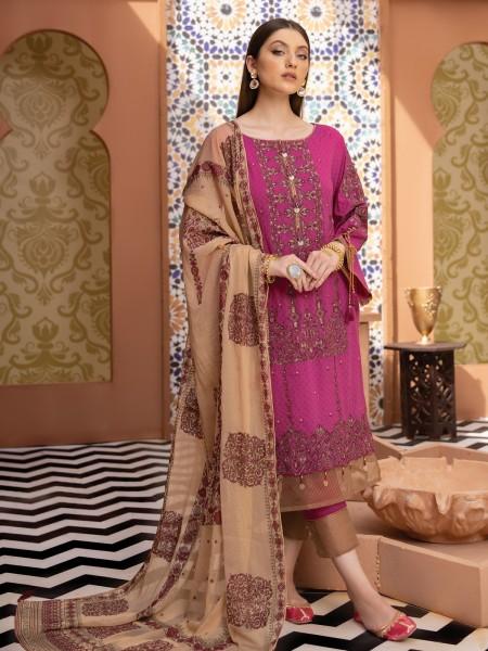 Edenrobe singhaar collection EWU21V2-21115 - Pink - 3 Piece
