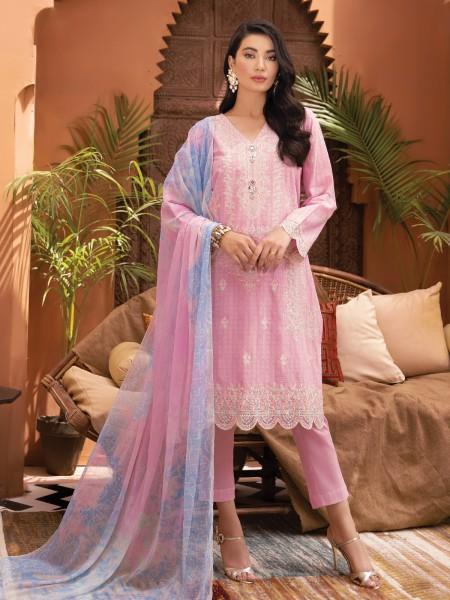 Edenrobe singhaar collection EWU21V2-21120 - Light Pink - 3 Piece