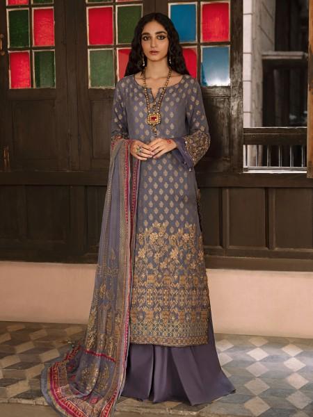 Edenrobe singhaar collection EWU21V6-21118 - Mid Blue - 3 Piece