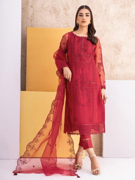 Edenrobe singhaar collection EWU21V6-21127 - Red - 3 Piece