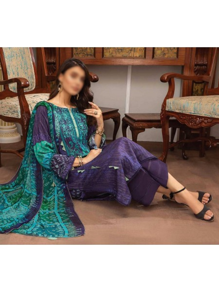 Embroidered Linen Masoori Collection Chap 01 D-BR 01