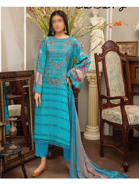 Embroidered Linen Masoori Collection Chap 01 D-BR 10
