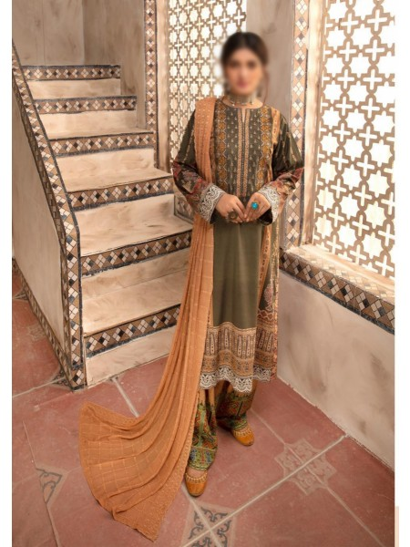 Johra Dazzle Digital Printed and Embroidered Linen Collection D-JR 76