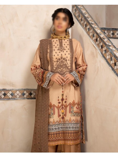 Johra Dazzle Digital Printed and Embroidered Linen Collection D-JR 78