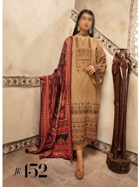 Johra Elsa Embroidered Leather Peach Collection D-JR 152