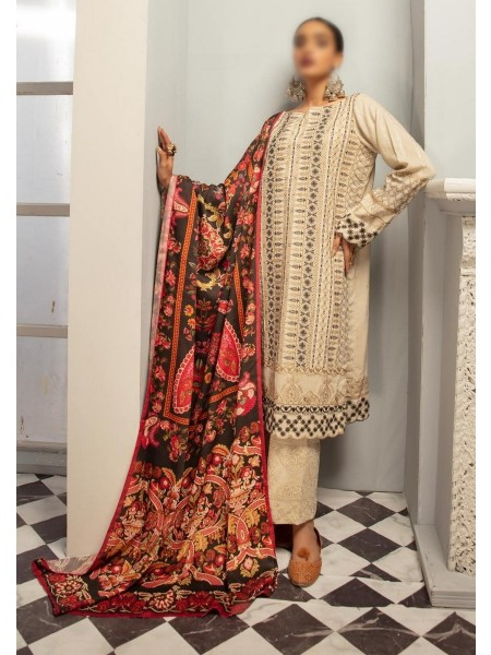 Johra Elsa Embroidered Leather Peach Collection D-JR 153