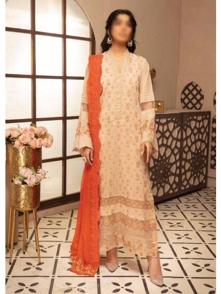 Johra Pink Embroidered Swiss Voile Collection D-JP 03