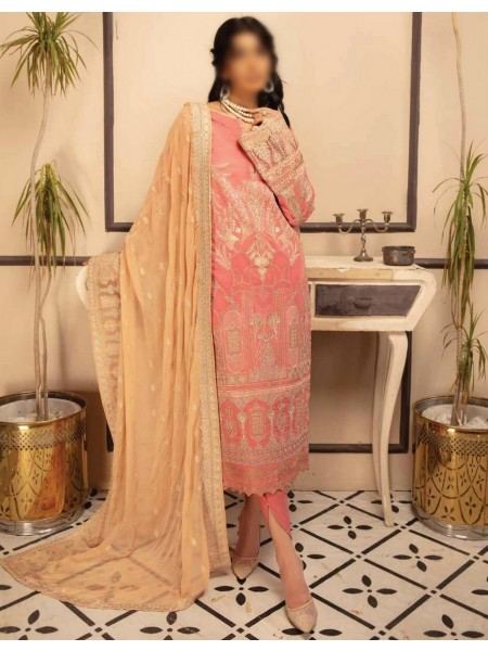 Johra Pink Embroidered Swiss Voile Collection D-JP 05