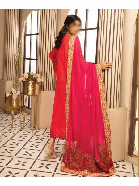 Johra Pink Embroidered Swiss Voile Collection D-JP 06