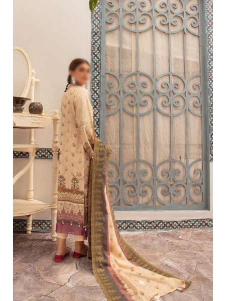 Mahees Embroidered Staple Karandi Unstitched Collection by Riaz Arts D-01