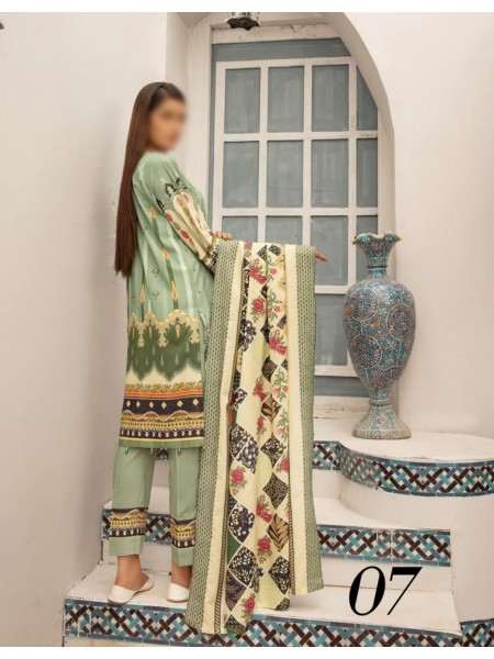 Mahees Embroidered Staple Karandi Unstitched Collection by Riaz Arts D-07