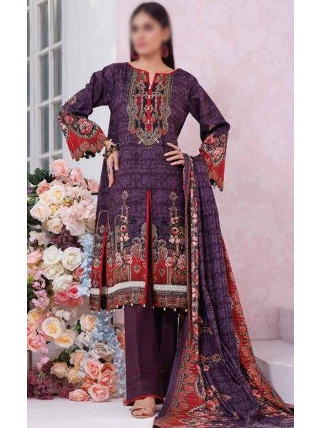 Saleem Textile Roshni Printed Cambric Collection D-RC 786 A