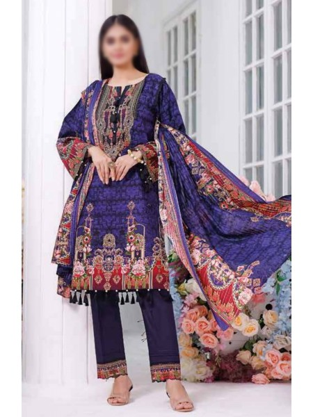 Saleem Textile Roshni Printed Cambric Collection D-RC 786 B