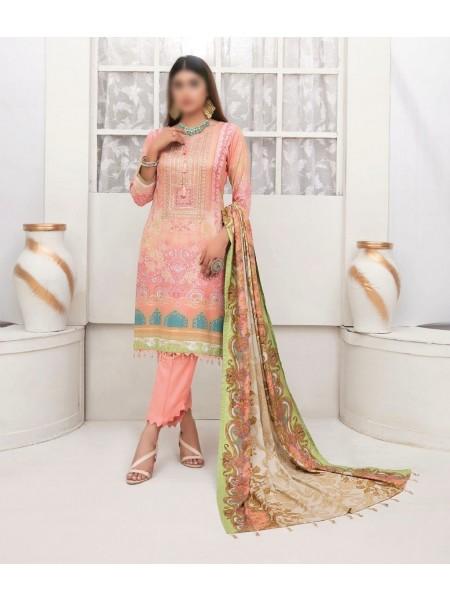 TAWAKKAL Amna Sohail's Dilara Linen Digital Print Collection'21 D-1992