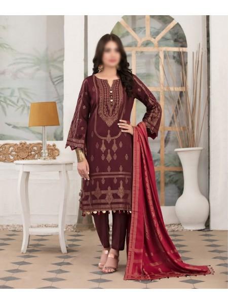 TAWAKKAL Meral Linen Banarsi Broshia Collection D-2140