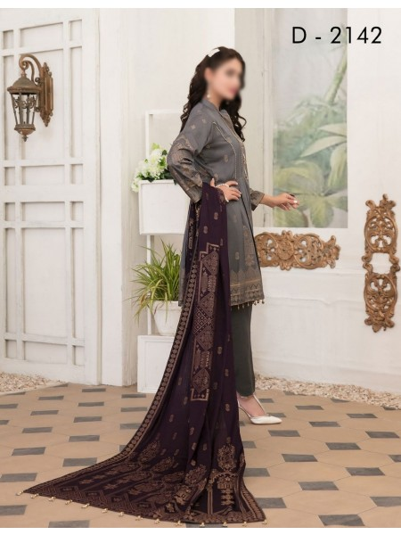 TAWAKKAL Meral Linen Banarsi Broshia Collection D-2142