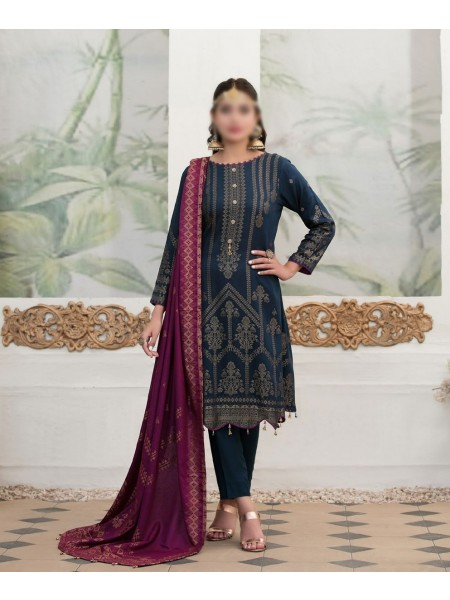 TAWAKKAL Meral Linen Banarsi Broshia Collection D-2143