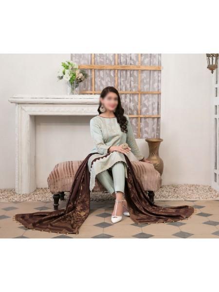 TAWAKKAL Meral Linen Banarsi Broshia Collection D-2145